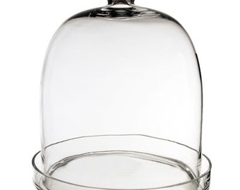 Glass Cloche with Tray (including Glass Tray) with Height 11 inches #GCL110/11