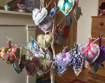 Hanging Lavender Hearts