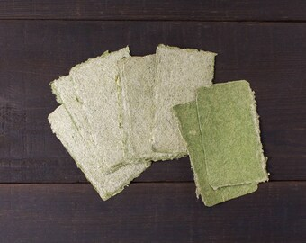 Two-side business card blanks - Handmade paper deckle edged cards - Blank Cards - Calling cards - Gift Tags - Wedding Place Cards