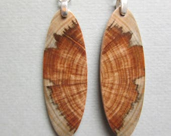 Gorgeous Butterfly look Exotic Wood Earrings, Monkey Puzzle rare wood Handcrafted reclamed