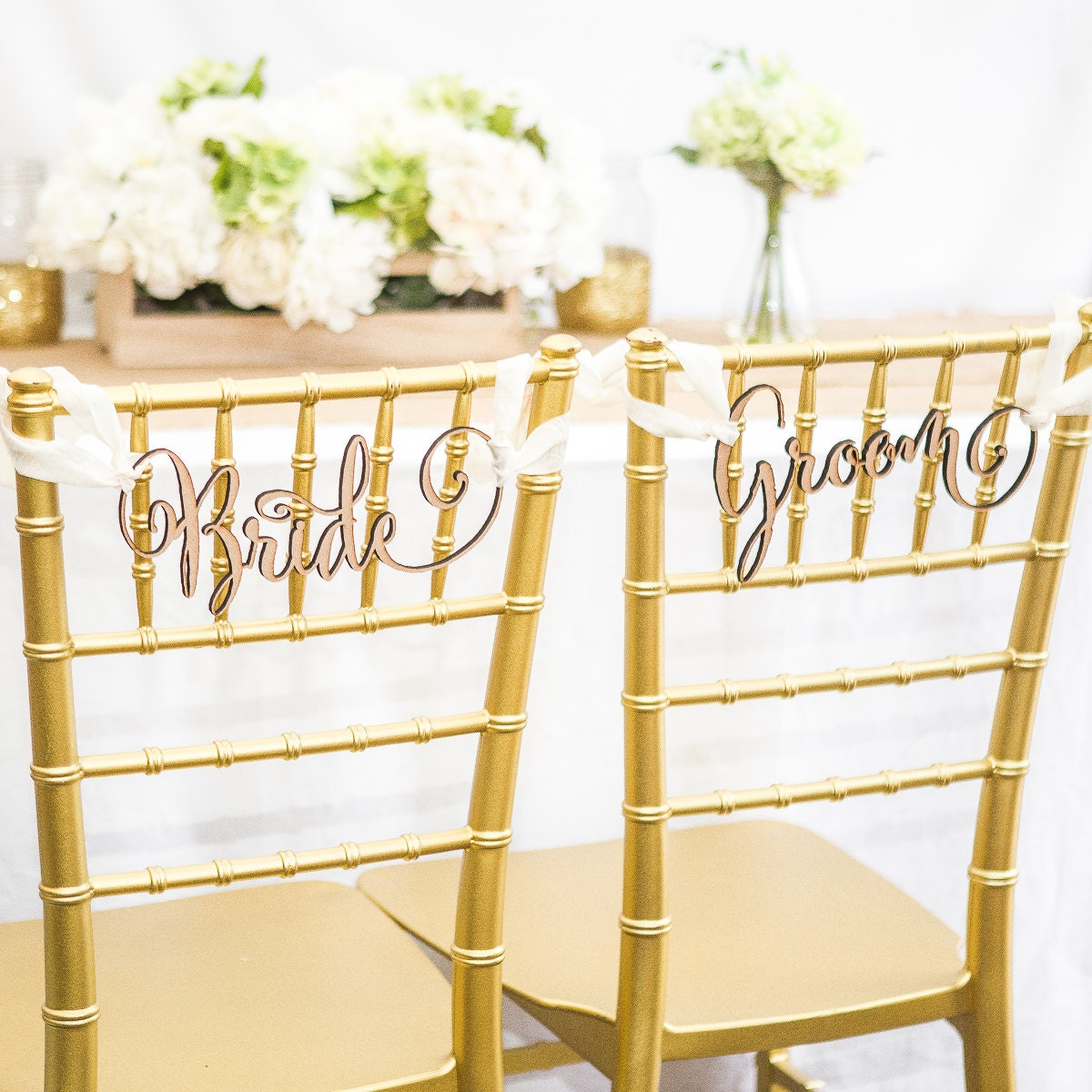 Chair Signs For Wedding Bride Groom