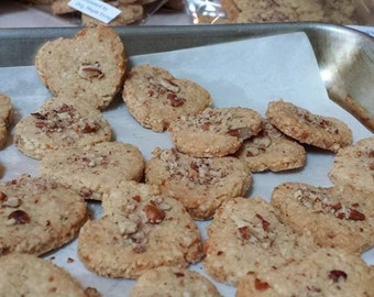 6 packs of Flourless bite size Pecan Shortbread Cookies: made from 100% Almond Flour,Free from Wheat, Dairy, Egg, Soy,Corn,Rice