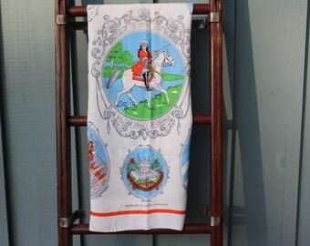 Battle of the Boyne, July 1st 1690 Vintage Tablecloth - William Prince of Orange