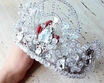 Crystal crown Crystal tiara Wedding crown Wedding tiara Bridal tiara Bridal crown Bridal wedding hair accessories  Headpiece Headband