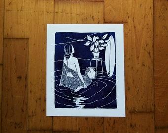 Serenity Lino print