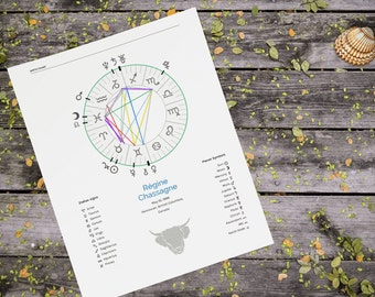 Astrology Birth Chart Reading ~ Over 20 pages