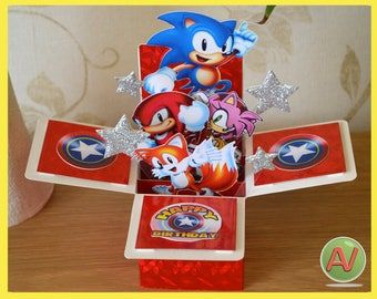 Sonic the Hedgehog 3D box card.