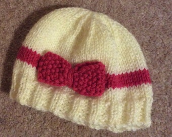 baby hat hand knitted