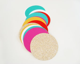 Confetti XL - Bollywood Party - Table Confetti, Trend Decoration for Birthday in Golden, Pink, Turqouise, Yellow, White, Indian Style Decor