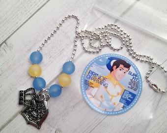 6 - Cinderella's Prince Charming Boy Necklace Party Favor Cinderella Party Favor Cinderella Birthday Prince Charming Party Favor Necklace