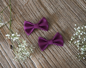 TERESA Hair Ribbons COMBO-Mini//Purple