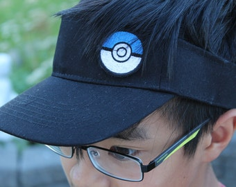 Pokemon Go Hat, pokemon cap, Visor Hat, Pokeball Patch,Pokemon Gift, Pokemon, black or white, pokemon visor, Pokemon Go, Pokeball, Pokemon