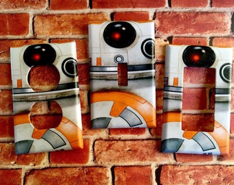 STAR WARS BB-8 light switch cover plate outlet home decor