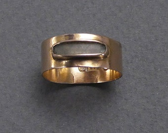 15ct English 1858 hair ring size 6