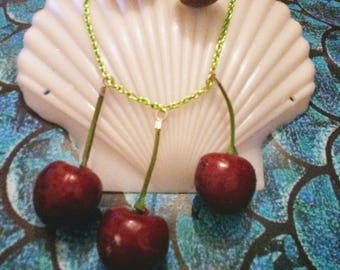Cheeky cherry necklace