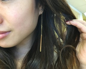 Dropped Bar Earring / Gold Filled / Anabel Nove