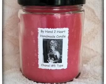 Chanel #5 TYPE 16 Ounce Handmade Candle