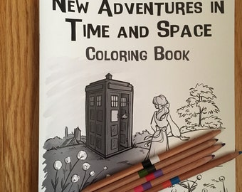 New Adventures In Time And Space Coloring Book  (Item 10-375)