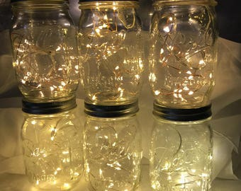Value Pack, Ships Free to US, 39 inch Fairy Lights Budget Saver!  10 or 20 Warm White LEDs, Replaceable Batteries. Wedding Decorations.