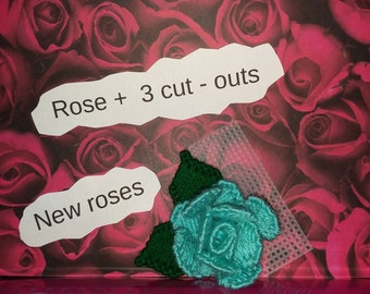 Rose +  3 cut outs