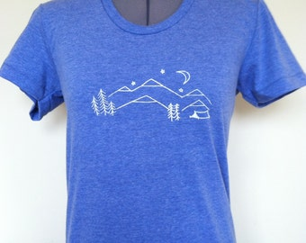Nature Inspired T Shirt Womens Heather Blue Sizes Small through XLarge