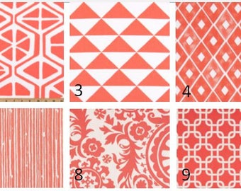 Coral Window Valances-Window Treatments-You Choose Your Size and Pattern
