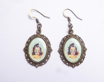 Pin up retro earrings