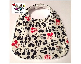 Mickey Mouse - Baby Bibs - Handmade Baby Bib - Baby Shower Gift - Bandana Bibs - Baby Feeding