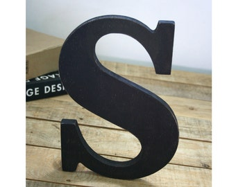 Wooden letter, freestanding wooden letter, shelf decor, wood letter, S wood letter, wall decor, home decor, Gift!