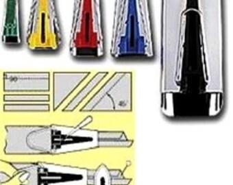 """Clover Bias Binding Tape Maker - All 5 Sizes 1/4"""" 1/2"""" 3/4"""" 1"""" 2"""" Set #464"""