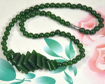 "Diamond Olive Jade Strand, Round green jade 6mm-16mm charm bead Loose One strands 16"""