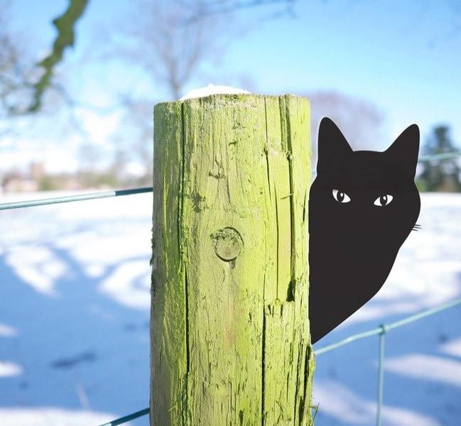 Garden Cat Outdoor Ornament for Lawn Perfect Garden Art
