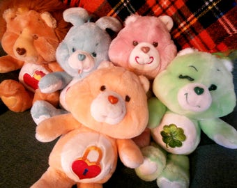 Vintage 80s Plush Care Bears and Cousins - You Pick