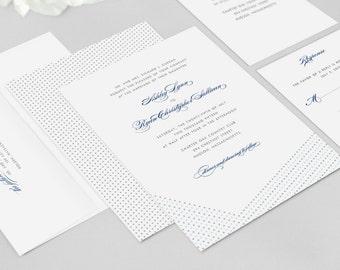 Wedding Invitation Modern - Dotted - Wedding Invitation, Modern Wedding Invitation - Deposit to Get Started