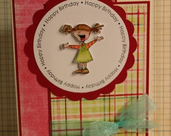 Birthday Shout Out,  A7 5x7 greeting card