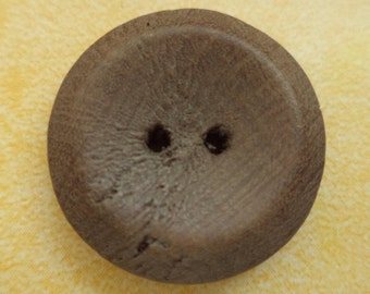 Wooden jacket buttons buttons 7 WOODEN BUTTONS Brown 23 mm (6766)