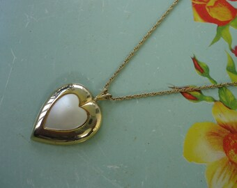 Heart Mother of Pearl Necklace