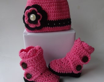Baby girl home coming outfit, winter outfit baby girl, baby girl beanie, baby girl boots, newborn beanie, baby shoes, newborn shoes