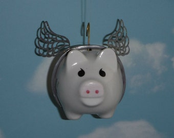 Flying Pig with Glitter Wings