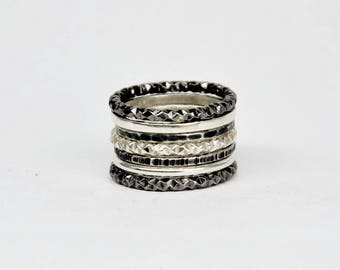 silver stacking rings, stackable rings, silver stack rings, stacking rings set, stack rings, stackable rings set, silver stackable rings
