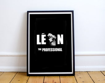 FREE SHIPPING** Leon - Movie Poster, Poster, Movie, Leon Poster, Leon Movie, Leon Professional, Minimalist Poster, Leon Movie Poster, Leon