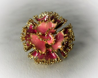 Pink Flower Ring   Stretch       Size 6 up  Adjustable