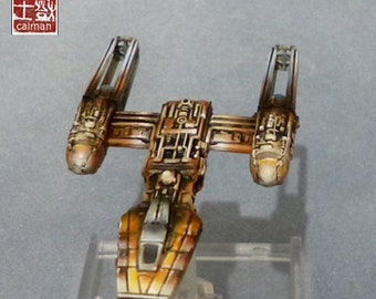 X wing, Y Wing Vaisseau Star Wars, pro painting.