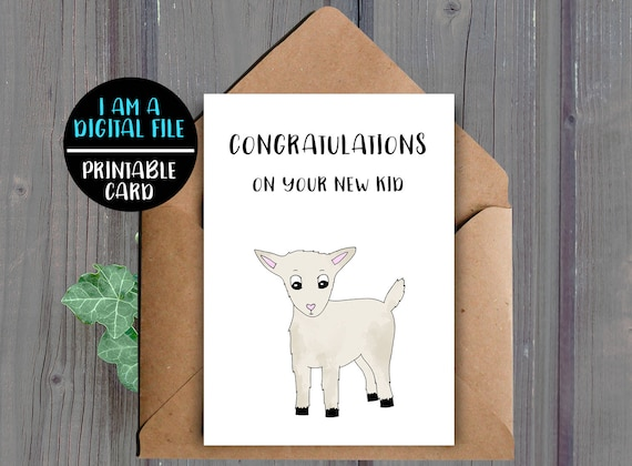 Baby Shower Card Printable ~ Digital download funny new baby card printable baby shower