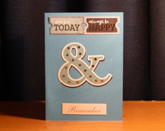 Live for today - blank greeting card/notecard