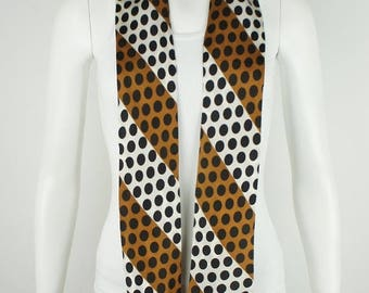 ON SALE Vintage 1960's Polka Dot Printed Scarf