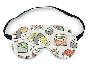 Sushi Sleep Eye Mask, Travel Gift Idea Sleeping Mask, Eye Pillow Sleeping Mask