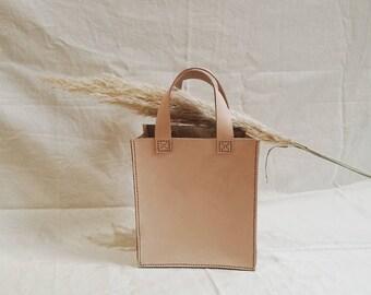 Jour Natural Veg Tan Leather Tote Bag