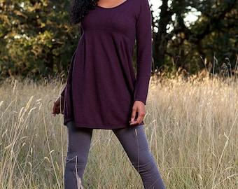 Empire Tunic Dress // Hemp & Organic Cotton Jersey // Eco Fashion
