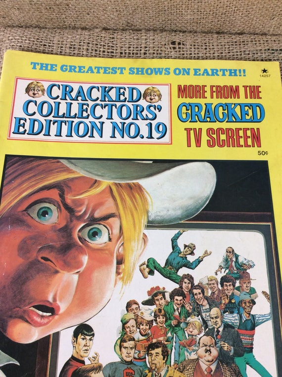 Vintage Cracked Collectors edition 19 from 1977, more from the cracked tv screen, vintage comics, comic collector gift, cracked com